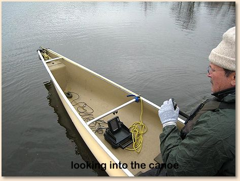 "the fish finder-equipped canoe"", Fish Finder"