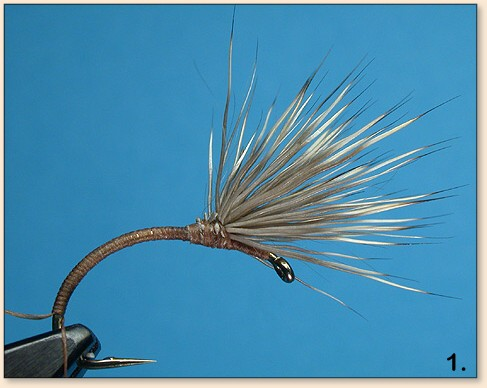 qty//taille fly fishing flies deer hair emerger EMERGENTE CERF mouche SERENITY